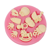 Free Shipping baby bottle Trojan Silicone Fondant baking Mold DIY Cake Decorating Polymer Clay Resin Candy Fimo Super Sculpey