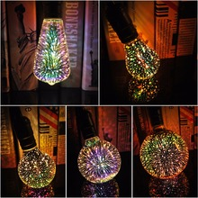 3D Led Bulb Edison Star E27 Colorful Bombillas Vintage Glass Light Retro Lampara Ampoule Christmas Home Decor Bar Party Wedding(China)