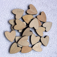New Style 20pcs wood heart shape blank wedding decoration buckle wooden props  buckle Unique Guestbook wedding party supplies