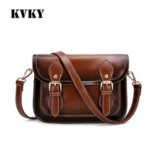Sky fantasy fashion vintage PU imitation leather small women messenger bag vogue classic casual youth girls crossbody handbags