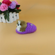 1pcs Simulation dog model mini plush toys dolls kawaii miniature animals creative gifts for children kids girls home decoration(China)