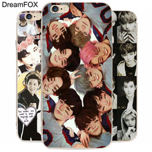 DREAM FOX K154 Popular Exo  Art Transparent Hard Thin Case Cover For Apple iPhone 8 X 7 6 6S Plus 5 5S SE 5C 4 4S