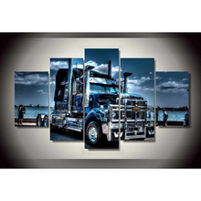 Abstract Canvas Painting Art Poster Style Wall Pictures Truck 5 Panel Print Art Home Decor Wall Art Pictures For Living Room
