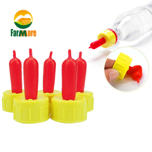 5pcs Small Animal Milk Drink Nipple Soft Rubber Pacifier for Feed Orphaned Lamb Pup Dog Foal Calf Screw On Sprite Coke Bottle(China)