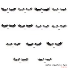 Visofree Eyelashes 3D Mink Lashes Luxury Hand Made Mink Eyelashes High Volume Cruelty Free Mink False Eyelashes Upper Lashes(China)