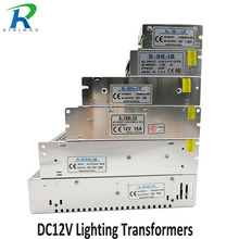 RiRi won DC 12V Power Supply Lighting Transformer driver Switch for LED Strips Adapter AC 220V 1.25A 2A 3A 10A 15A 25A 30A 33A(China)