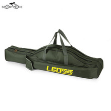 100/150cm Canvas Fishing Bag Outdoor Multi-purpose Folding Fishing Rod Pouch Case Fish Pole Reel Storage Bags Fishing Gear Pesca