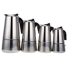 100/200/300/450ML Stainless Steel Moka Coffee Maker Mocha Espresso Latte Stovetop Filter Coffee Pot Percolator Tools Pots