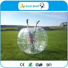 High quality TPU 1.2M  football games red dotted inflatable human bubble balls/bumper balls/soccer bubbles