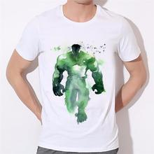 Painted Hulk latest Men's T-Shirts 2016 Men Summer T Shirt The Hulk 3D Printed men's short sleeve t-shirt male top 17-7#(China)