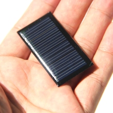 BUHESHUI 5V 25mA Mini Solar Cell Small Power Solar Panel For 3.7V Battery Charger DIY Solar Toy Panel LED  45X25mm Epoxy 10PCS