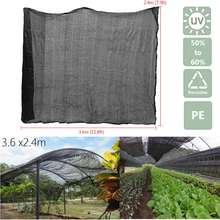 PE Sunblock Shade Cloth for Plant Cover Greenhouse Barn Swimming Netting Garden Pest Control Tools Supplies 8Ft x 12Ft Black(China)