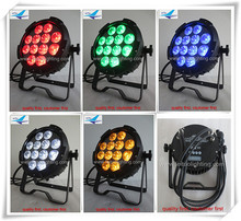 12xlot Disco light outdoor led par can 12x15w rgbaw 5in1 slim par waterproof strobe light