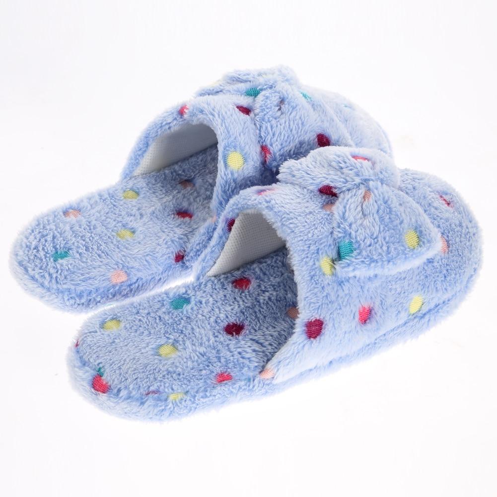Cute Bowtie  Sweety Cartoon Slipper Warm Soft Plush Winter Indoor Shoes Warm plush home slippers <br><br>Aliexpress