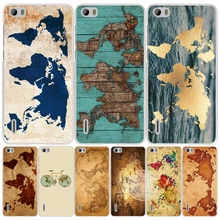 travel world map vintage cell phone Cover Case for huawei honor 3C 4A 4X 4C 5X 6 7 8 Y6 Y5 2 II Y560