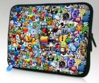 "10"" Icons Netbook Laptop Sleeve Bag Case Cover Pouch For 10.1"" ASUS Eee Pad TF10 Tablet PC,Waterproof,Shockproof"