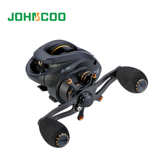 JOHNCOO New Baitcasting Reel 13+1 Bearings 6.3:1 Super Light Magnetic and Centrifugal Dual Brake System Freshwater Fishing Coils