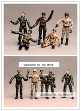 joint dolls special  force   doll  plastic  pvc  toy  figure  10pcs /set