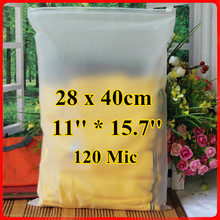 Free Shipping 50pcs/lot 28cm*40cm*120mic Frosted Plastic Scarf Bag, Vaccum Bedding Bag, Plastic Zip Bag, Resealable Plastic Bag
