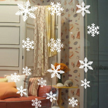 New Year's Eve Christmas snowflake wall stickers window decorative glass door stickers affixed static stickers creative stickers