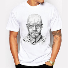 Evolution of Walter White men t shirt cartoon printed customized tee shirts Breaking Bad male short sleeve novelty funny tops(China)
