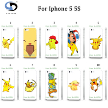vcustom 10pcs/lot Funny Cartoon PokeBall Hard Phone Cases Capa Back Cover Fundas For Iphone5 5S Cute Pokemons Case Shell
