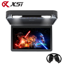 XST 13.3 Inch Car Roof mount DVD Player Flip down 1080P Video HD Digital TFT Wide Screen USB/SD/HDMI Port/MP5/IR/FM Transmitter(China)