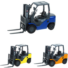 KDW Model Diecast 1:20 Forklift Truck Toy Classic Alloy Car Model Collectible Gift Kids Engineering Construction Vehicles Toy