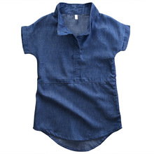 Pudcoco Toddler Girls Dress Kids Denim Jeans Casual Shirt Dress Tunic Tops Clothes(China)