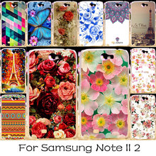 TAOYUNXI Plastic Phone Cover Case For Samsung Galaxy Note 2 Note II N7100 N7105 Note2 NoteII 7100 Cases Rose Flower Bag Shell(China)