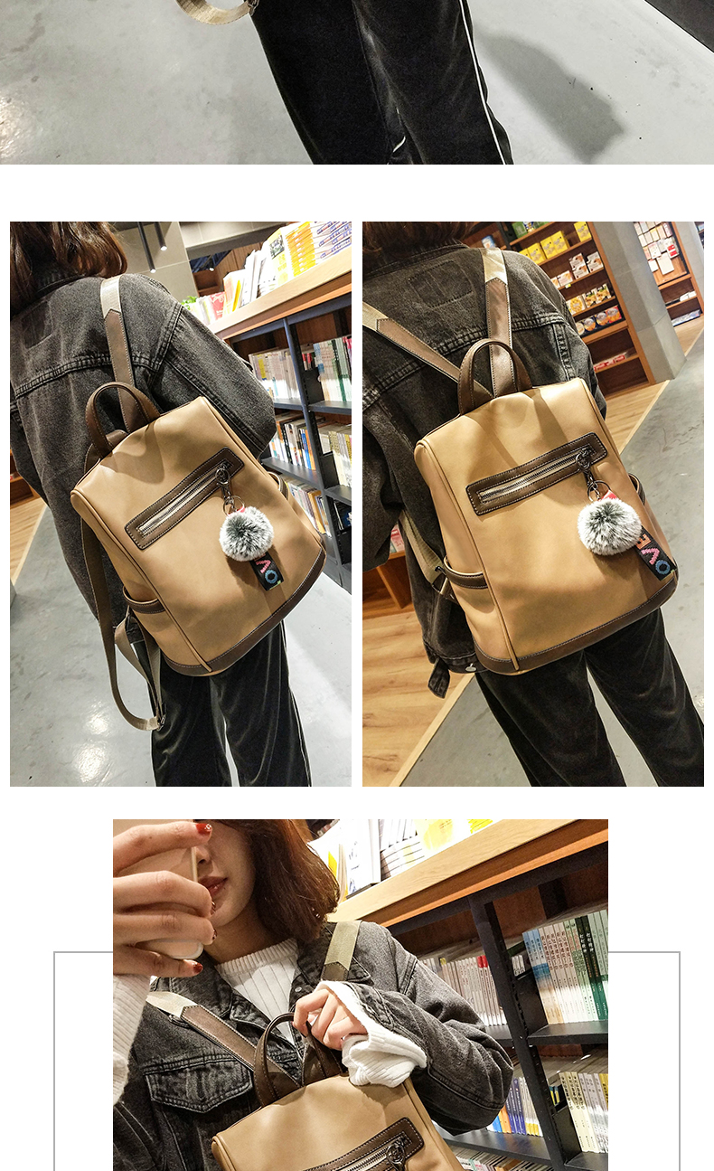2018 New High-end Fashion Backpack Trend Simple Personality Fashion Campus Bag Large Capacity Bag Soft Leather Travel Backpack 47 Online shopping Bangladesh