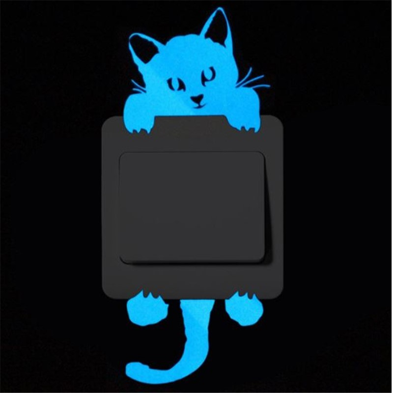 Luminous Stickers Super Bright Home Decoration DIY Funny Cute Cat Switch Glow in the Dark Living Room Sticker poster Luminous Stickers Super Bright Home Decoration DIY Funny Cute Cat Switch Glow in the Dark Living Room Sticker poster HTB1Tcq2bGSWBuNjSsrbq6y0mVXa8