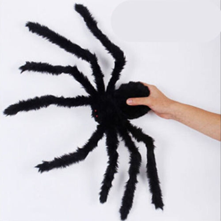 horror scary black spider halloween decoration haunted house prop indoor outdoor black giant 3 size plush spider halloween toy
