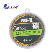 iLure leada 100% carbon fiber fluor fishing lines carbon fiber 50mt 100mt spool super strong guide 60lb 80lb pesca free shipping(China)