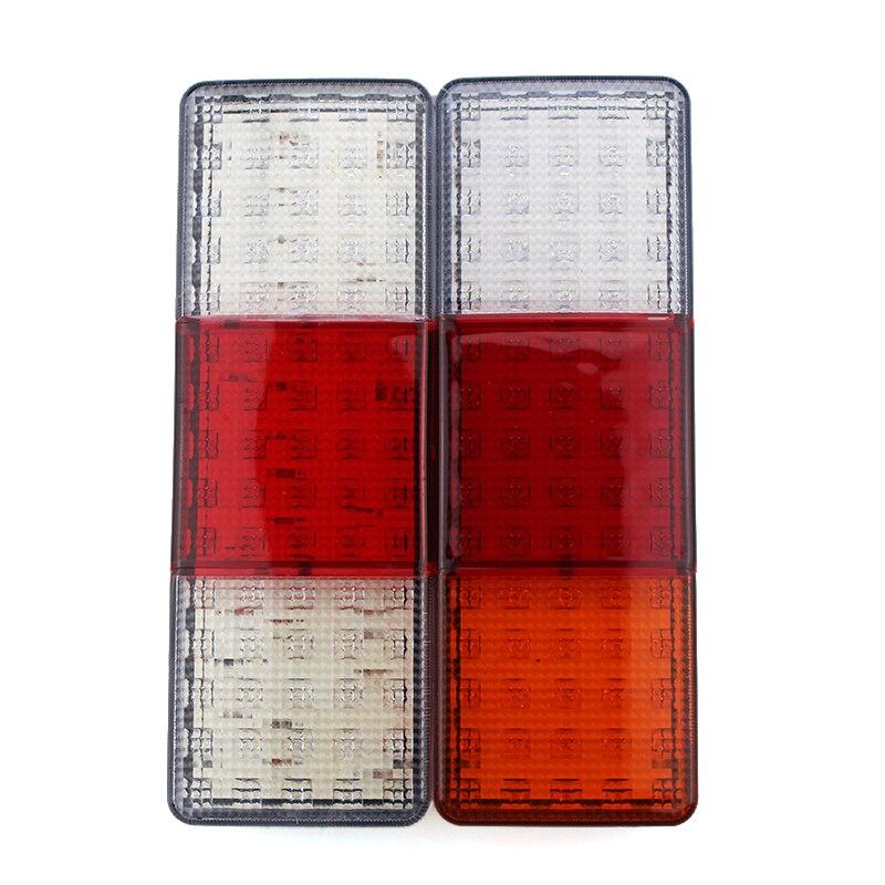 1Pair Car Truck Rear Tail Lights 75 LED Waterproof 12V Super Bright Indicator Signal Reverse Brake Stop Lamps<br>
