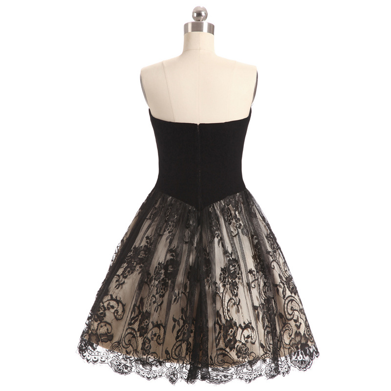 buy Formal Black Cocktail Homecoming Evening Party Lace Dress