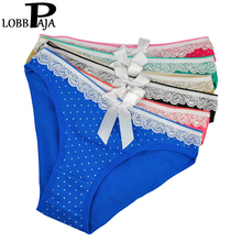 Buy LOBBPAJA Women Underwear Sexy Panties Cotton Cute Ribbon Polka Dots Briefs Intimates Lingerie Ladies Knickers Women