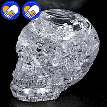A TOY A DREAM 3D Crystal Puzzle DIY Jigsaw Assembly Model Gift Toy Skull Skeleton Hot Sale Best Xmas Gifts For Kids Ddecration(China)