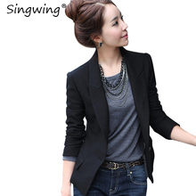Buy Singwing Autumn Black Women Blazers Slim Style Suit V-NECK ladies Office Blazers Coat Fashion Solid Color Business Suit Blazer for $14.68 in AliExpress store