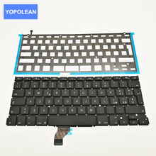 New Italian laptop keyboard For MacBook Pro Retina A1502 Keyboard With Backlit Board IT Layout 2013 2014 2015 Year