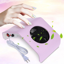 Gustala 220V/110V Nail Fan Acrylic UV Gel Machine Nail Dust Collector Art Salon Suction Dust Collector Machine Vacuum Cleaner