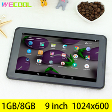 9 inch Popular Tablet PC with A33 Quad Core Android 5.1 Memory 1GB/8GB Display 1024x600 Reslution Loud speaker big battery PAD