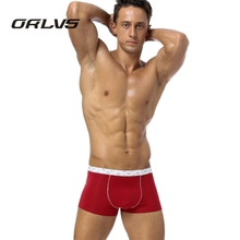 ORLVS Brand Men Underwear Boxers Home Sexy Men Boxers Spandex Modal Underpants Boxers Male Pouch Shorts Boxer H16