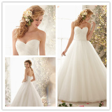 2015 Hot A-line Sweetheart Court Train Tulle Simple Backless Simple Wedding Dresses Wedding Gown Bridal Dresses Bridal Gown