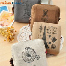 Hot Sale Classic Retro Canvas Purse Wallet Card Key Coin Bag Pouch Case Coin Purses wholesale Feb07