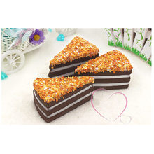 Free shipping 3pcs/lot chocolate nut cakes Artificial Foods toys fake simulated foods home bread shop DIY party decoration gifts