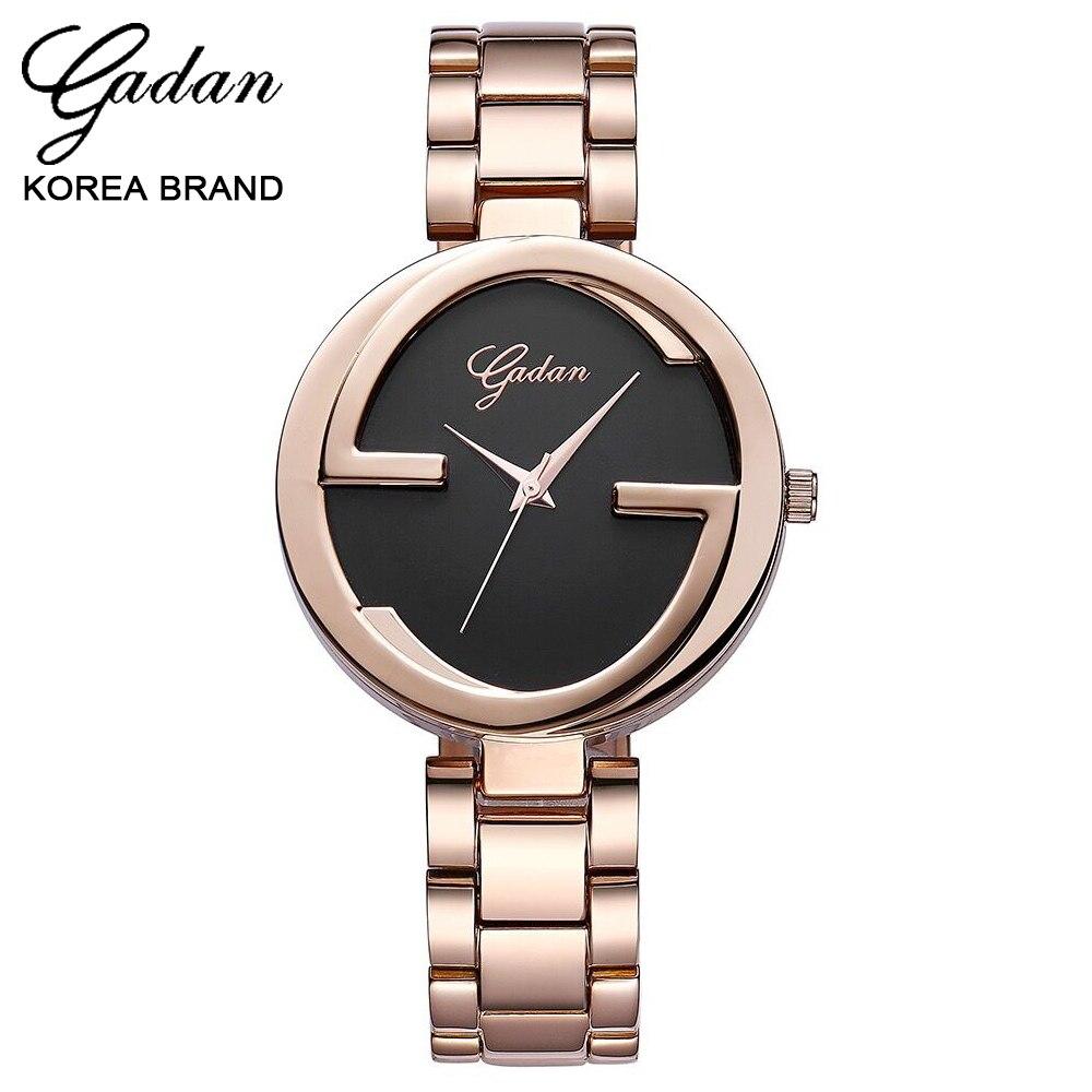 YADAN Noble Rose Gold Alloy Watch High Quality Waterproof Black Quartz Brand Watches Woman Luxury Gift Casual Fashion Wristwatch<br><br>Aliexpress