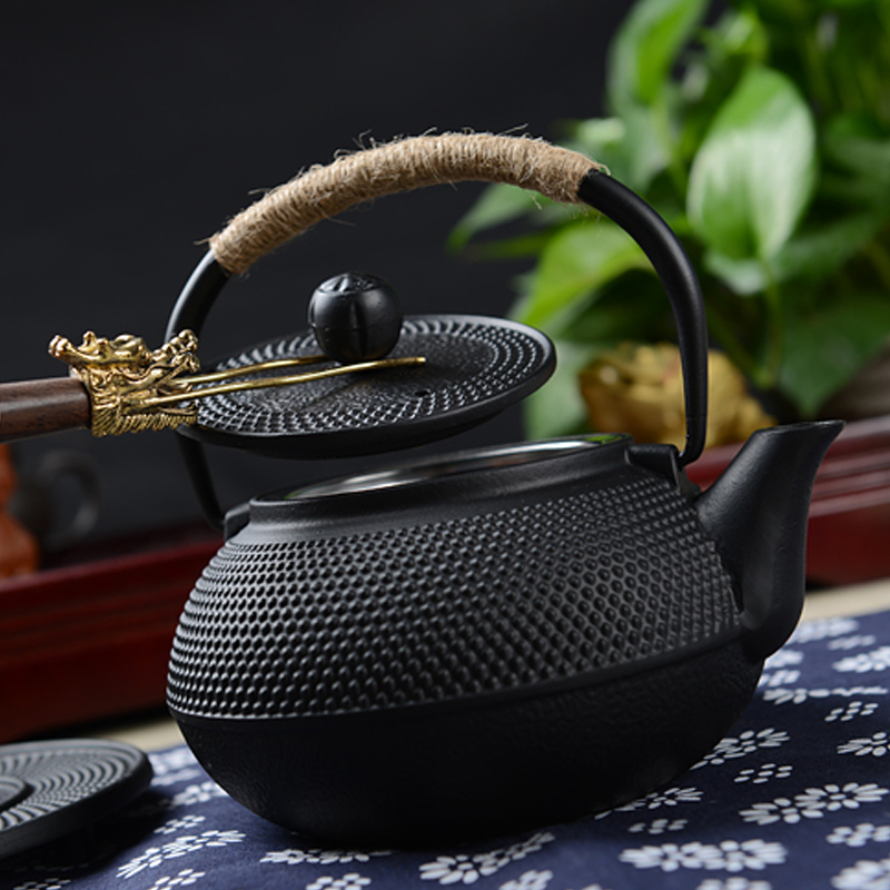 Southern Cast iron kettle old iron pot shells tea pots health boiler scale iron pot 800ml 2