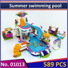 Building Blocks Model 01013 Compatible Legoes Friends Summer swimming pool 41313 Educational Toys for Children(China)