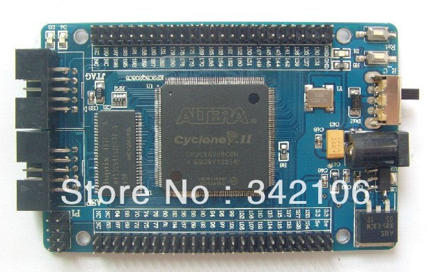 Free Shipping!!! ALTERA EP2C8Q208 FPGA Nios II development board learning board minimum system(China)